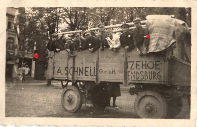 7851/ Originalfoto 9x6cm, SA Gebietsaufmarsch Neumünster, 1933