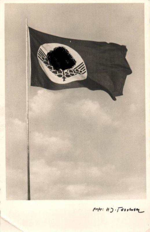 7855/ Foto AK, Teschke- Karte Nr. 15, RAD Flagge