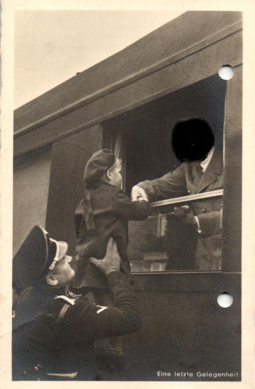 7857/ Foto AK, Eine letzte Gelegenheit, 1938