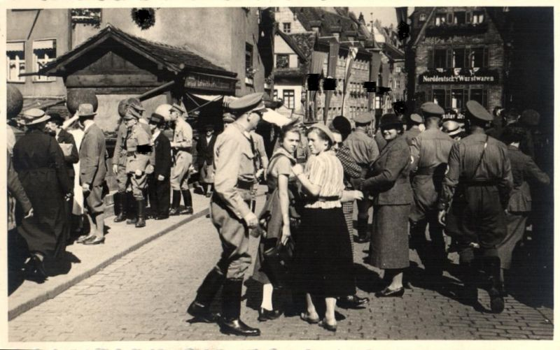 7858/ Originalfoto 9x13cm, SA in Hannover, 1938