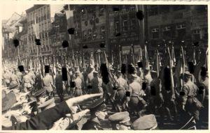 7859/ Originalfoto 9x13cm, SA Aufmarsch Hannover, 1938