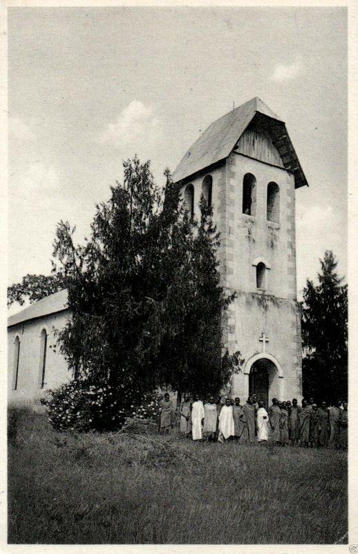 Foto AK, Ost Afrika, Kirche in Mamba, 1939