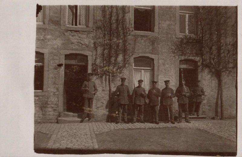Originalfoto 9x13, Soldaten Schreibstube 3.mob. Landst. Inf. Batl., 1917