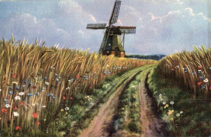 Künstlerkarte , Windmühle, 1926