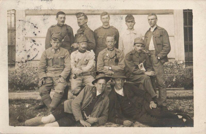Originalfoto 9x13, Salzburger KuK Soldaten, 1917
