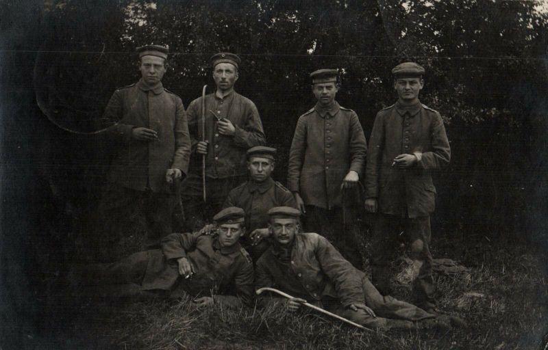 Originalfoto 9x13, Soldaten Rekrutendepot 26. Inf. Division, 1916