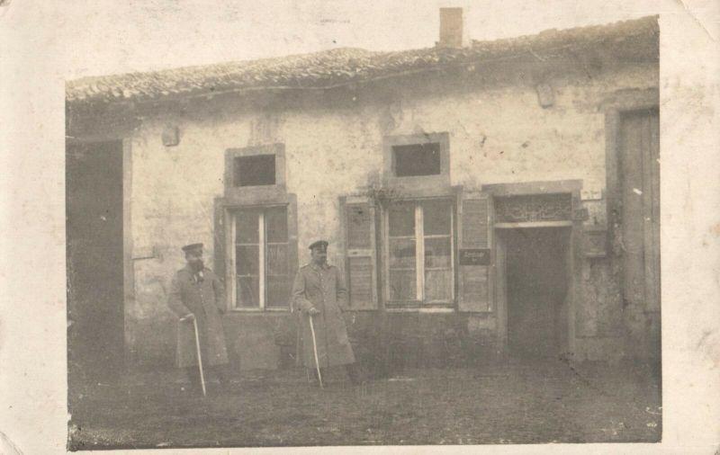 Originalfoto 9x13, Soldaten vor Schreibstube IR 115, 1916