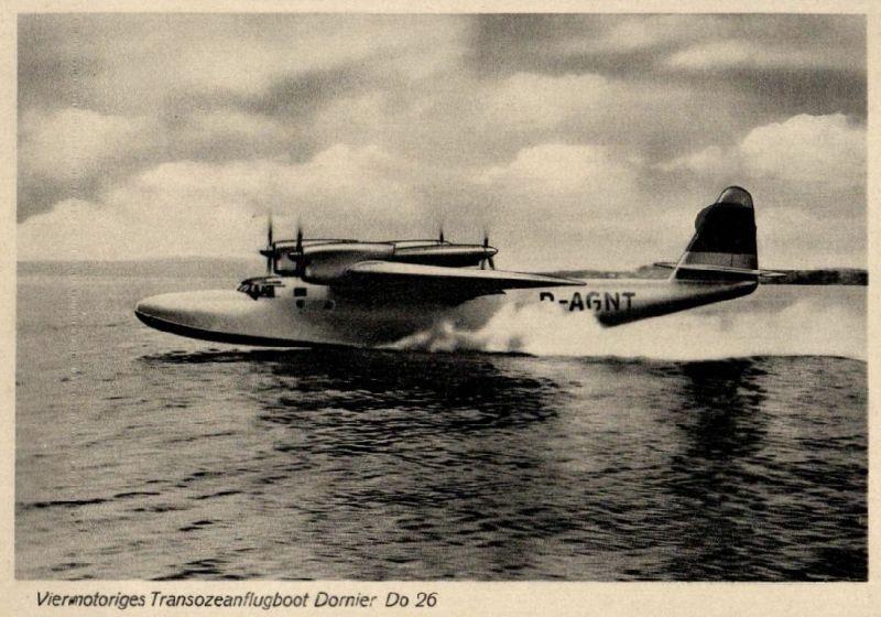 Foto AK, Wasserflugzeug Dornier Do 26