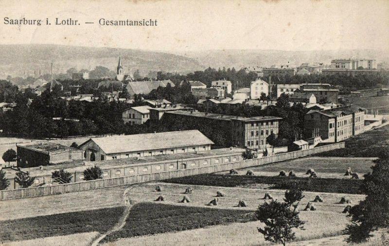 Foto AK, Saarburg i. Lothr., Gesamtansicht, 1918