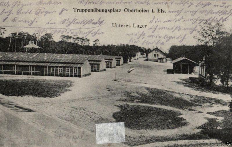 Foto AK, Übungsplatz Oberhofen, Unterers Lager, 1918