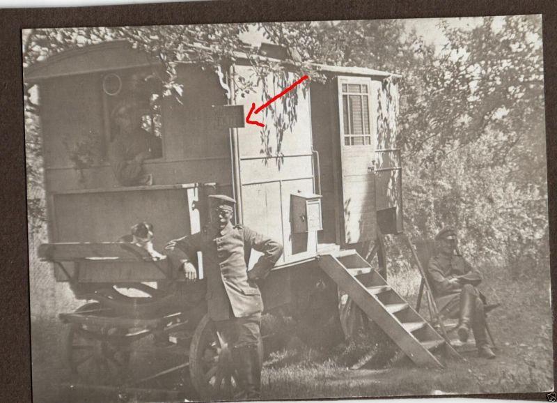 Originalfoto 8x11cm, Schreibstubenwagen, Fuhrparkkolonne 177 Hannover