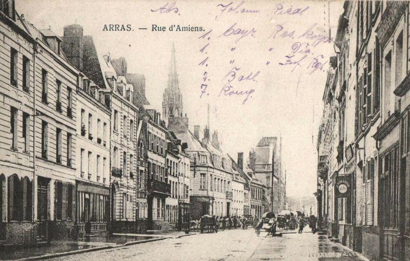 Foto AK, Arras, Rue d'Amiens, 1915