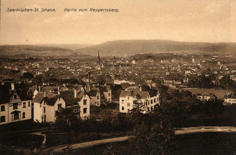Foto AK, Saarbrücken St. Johann, Partie vom Reppertsberg,ca. 1910