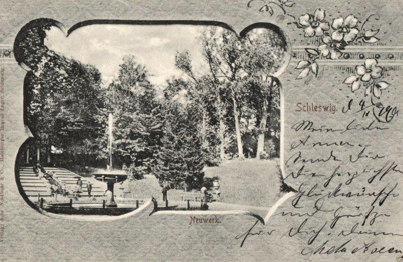 Foto AK, Jugendstil Schleswig, Neuwerk, 1901 0