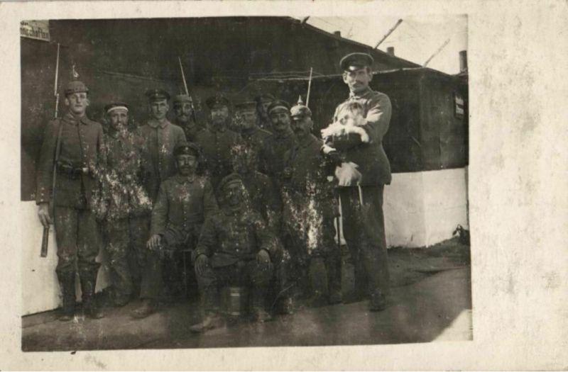 Originalfoto 9x13cm, Soldaten mit Hund