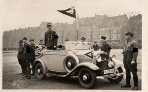 20900/ Originalfoto 9x13cm, Gauleiter Hannover in Oldtimer Cabrio, ca. 1935