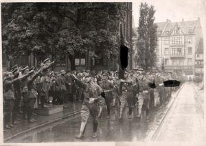 21425/ Originalfoto 10x15cm, SA Aufmarsch, Hannover, ca. 1935