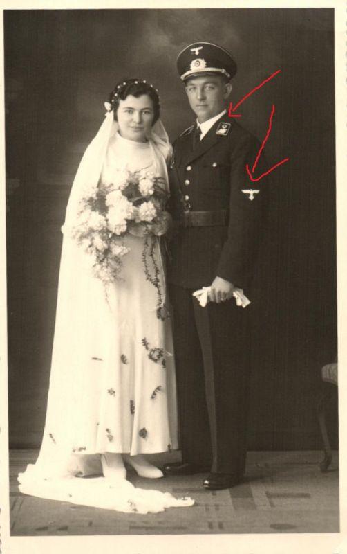 21436/ Originalfoto 9x13cm, Hochzeitsfoto, Staatsbeamter, 1937