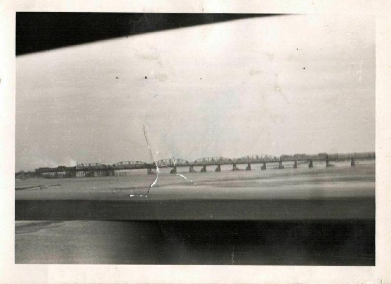 2 Originalfoto 10x7cm, Djnepr Bücke bei Kiew