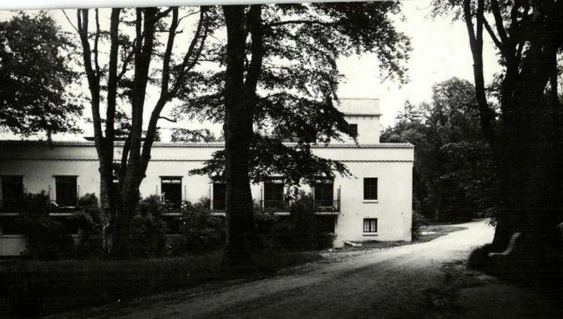 Originalfoto 8x15cm, Kommandantur Gebäude Silkeborg, ca. 1944