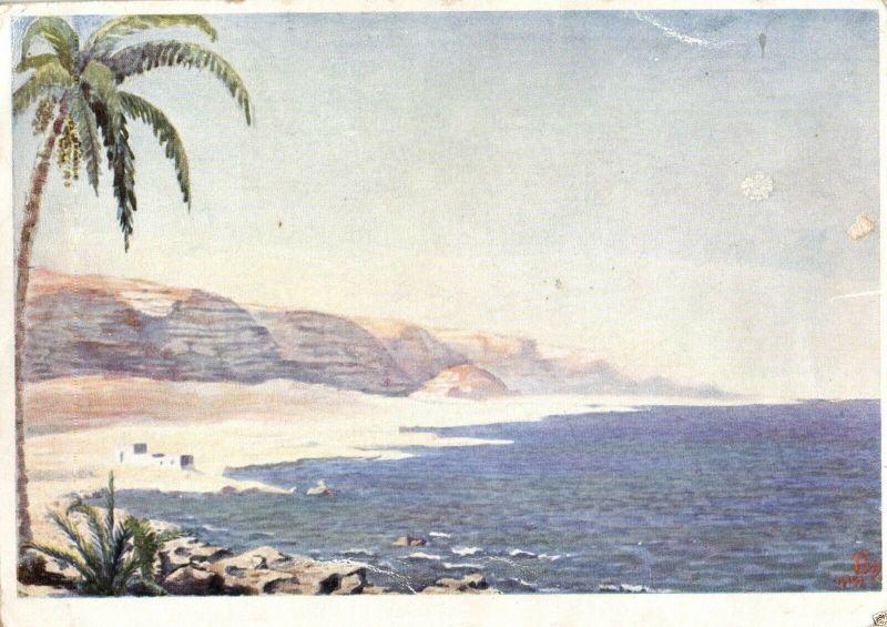 Künstlerkarte, Kunst der Front, Cyrenaika, 1942