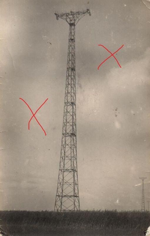 Originalfoto 9x13cm, 70 m Turm der Peene-Überführung b. Zecherin, 1924