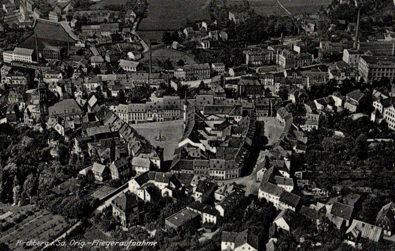 Foto AK, Kirchberg i.Sa. Orig. Fliegeraufnahme, 1940