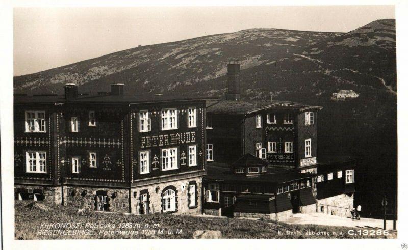 Foto AK, Riesengebirge, Peterbaude, 1930