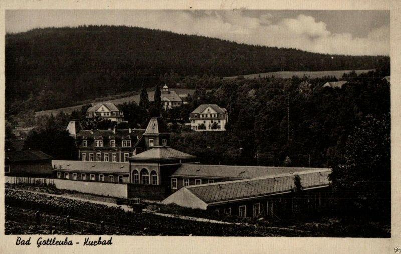 Foto AK, Bad Gottleuba, Kurbad Stempel Res. Lazarett Gottleuba, ca. 1940