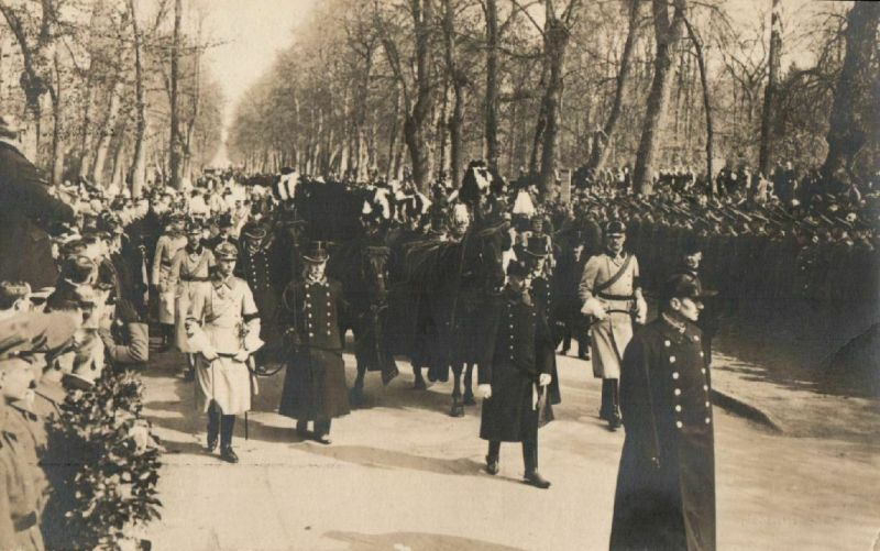 Foto AK, Beisetzung der Kaiserin Auguste Viktoria
