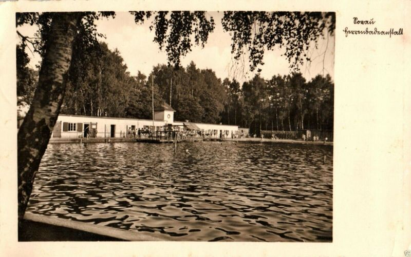 Foto AK, Sorau, Herrenbadeanstalt 1941