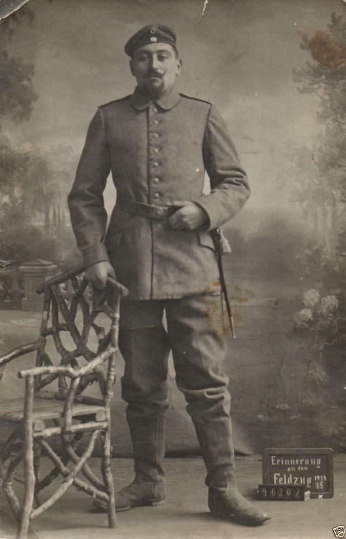 Originalfoto 9x13cm, Metzer Artillerist,  1918
