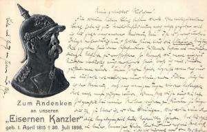 Prägekarte, Zum Andenken an unseren Eisernen Kanzler, 1898