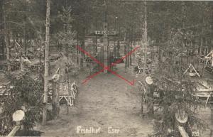 Originalfoto 9x13cm, Neuer Friedhof Eser Gräber R.J.R. 252
