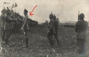 Originalfoto 9x13cm, Truppenbesuch Kronürinz Wilhelm v. Preußen, 1917
