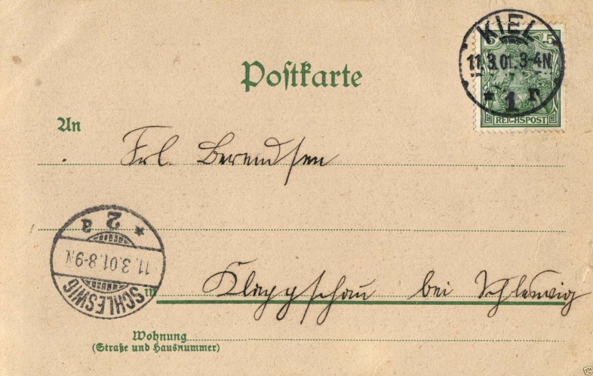 Foto AK, Jugendstil, Gruss aus Kiel, Düsternbrook., 1901 1