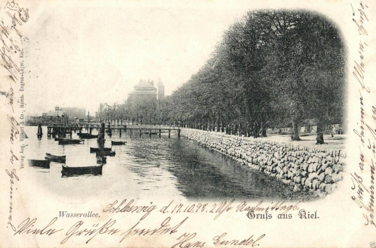 Foto AK, Gruss aus Kiel, Wasserallee, 1898 0
