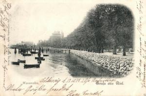 Foto AK, Gruss aus Kiel, Wasserallee, 1898