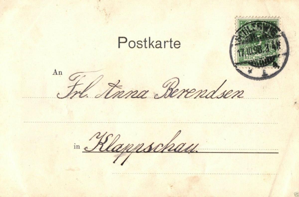Foto AK, Gruss aus Kiel, Wasserallee, 1898 1