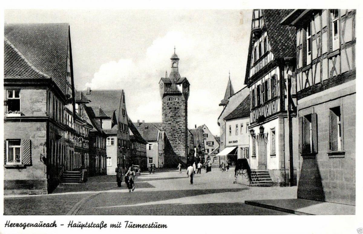 Foto AK, Herzogenaurach, Hauptstraße, ca. 1955 0