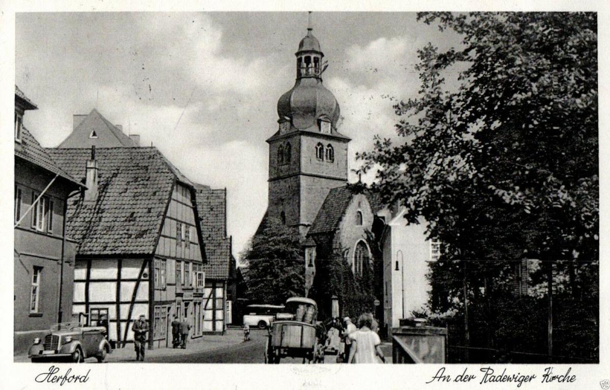Foto AK, Herford, An der Radewiger Kirche, 1938 0
