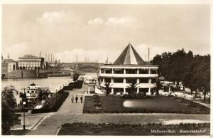 Foto AK, Mühlheim-Ruhr, Wasserbahnhof, ca. 1930