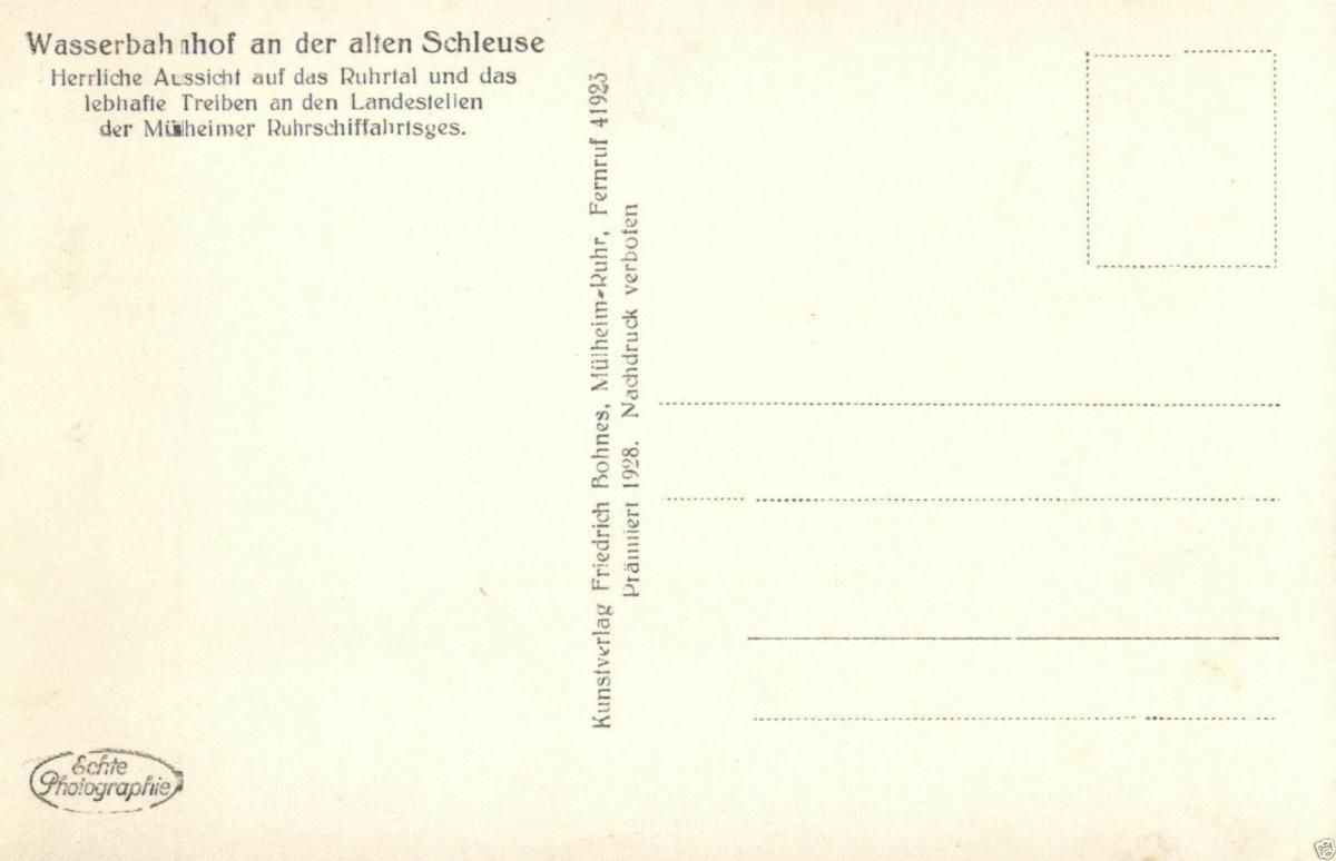 Foto AK, Mühlheim-Ruhr, Wasserbahnhof, ca. 1930 1
