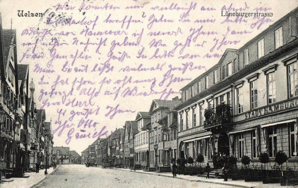 Foto AK, Uelzen, Lüneburgerstrasse, 1908 0