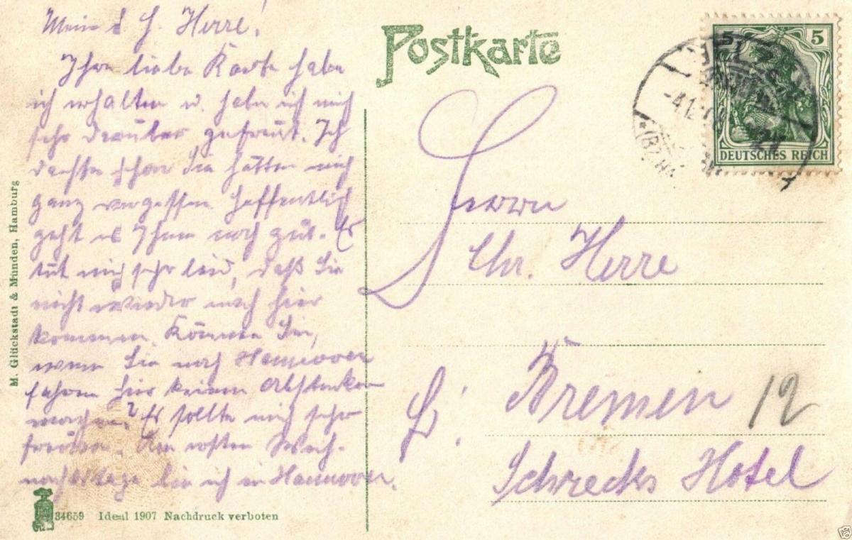 Foto AK, Uelzen, Lüneburgerstrasse, 1908 1