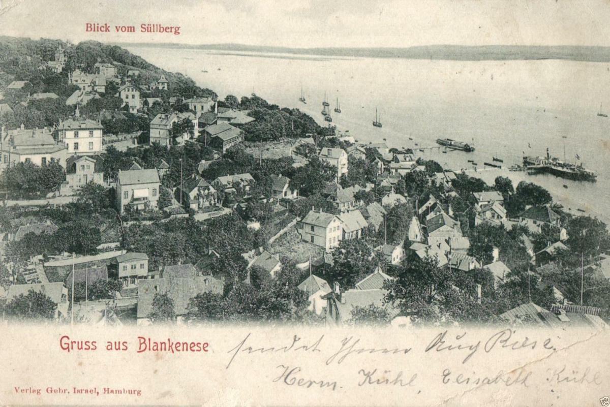 Foto AK, Hamburg-Blankenese Blick vom Süllberg, 1902 0