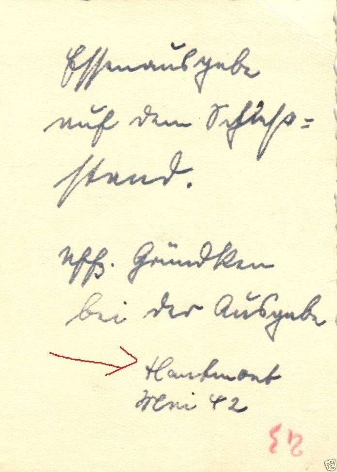 Originalfoto 9x6cm, Essensausgabe am Schießstand Hautmont, 1942 1