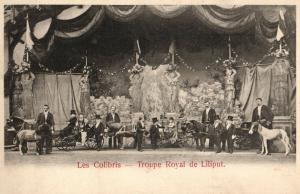 Foto AK, Les Colibris, Troupe Royal de Liliput, ca. 1910