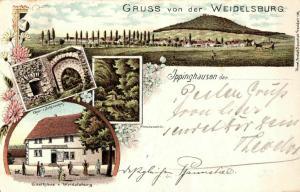 Litho AK, Gruss von der Weidelsburg, Gasthaus, Ippinghausen, 1904