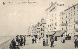 Foto AK, Ostende, Hotel Majestic, Stempel Matrosen Masch. Gew. Komp.,1915